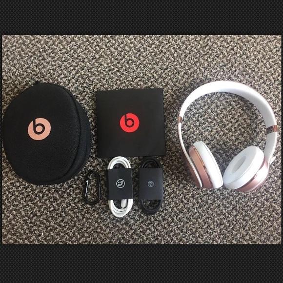 Beats Accessories Solo 3 Wireless Headphones Rose Gold New Poshmark